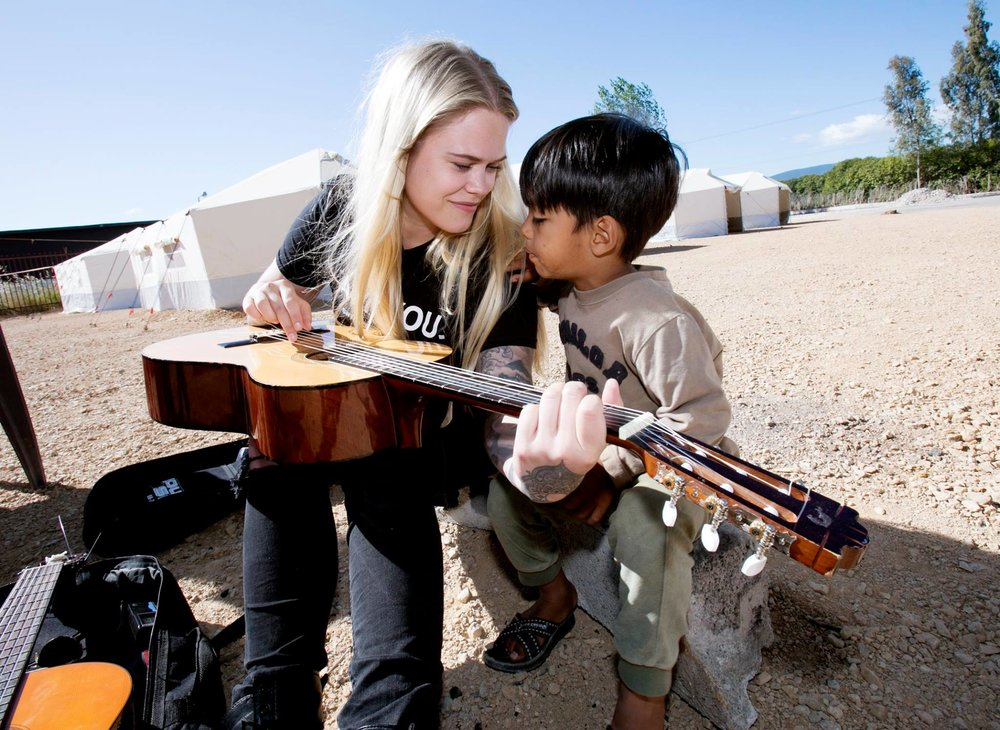 "June 2016: Swedish singer/songwriter Julia Frej develops the ""I AM MUSIC"" program that arranges music workshops for all ages in both Ritsona and Inofyta camp."