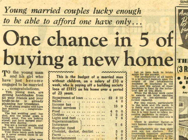 Source: www.realestate.com.au - excerpt from the Sunday Telegraph 15th January 1950.