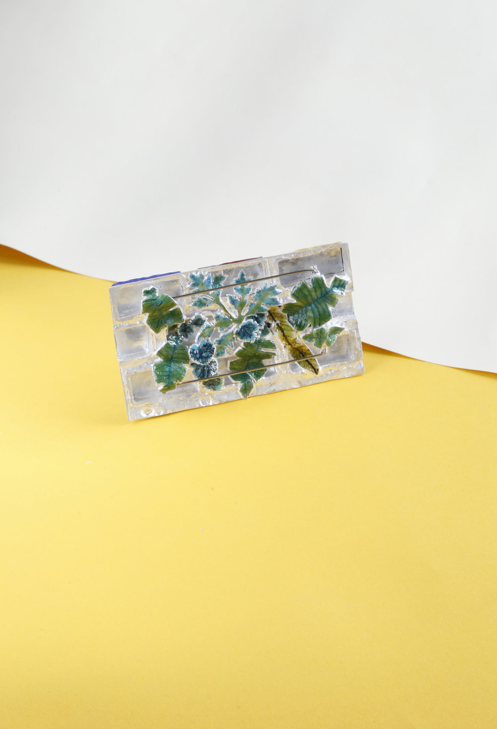 The back of the Brick brooch is your secret garden.