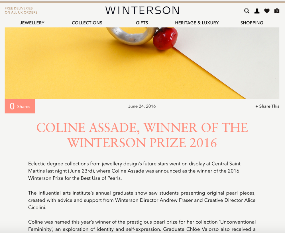 Winterson blog
