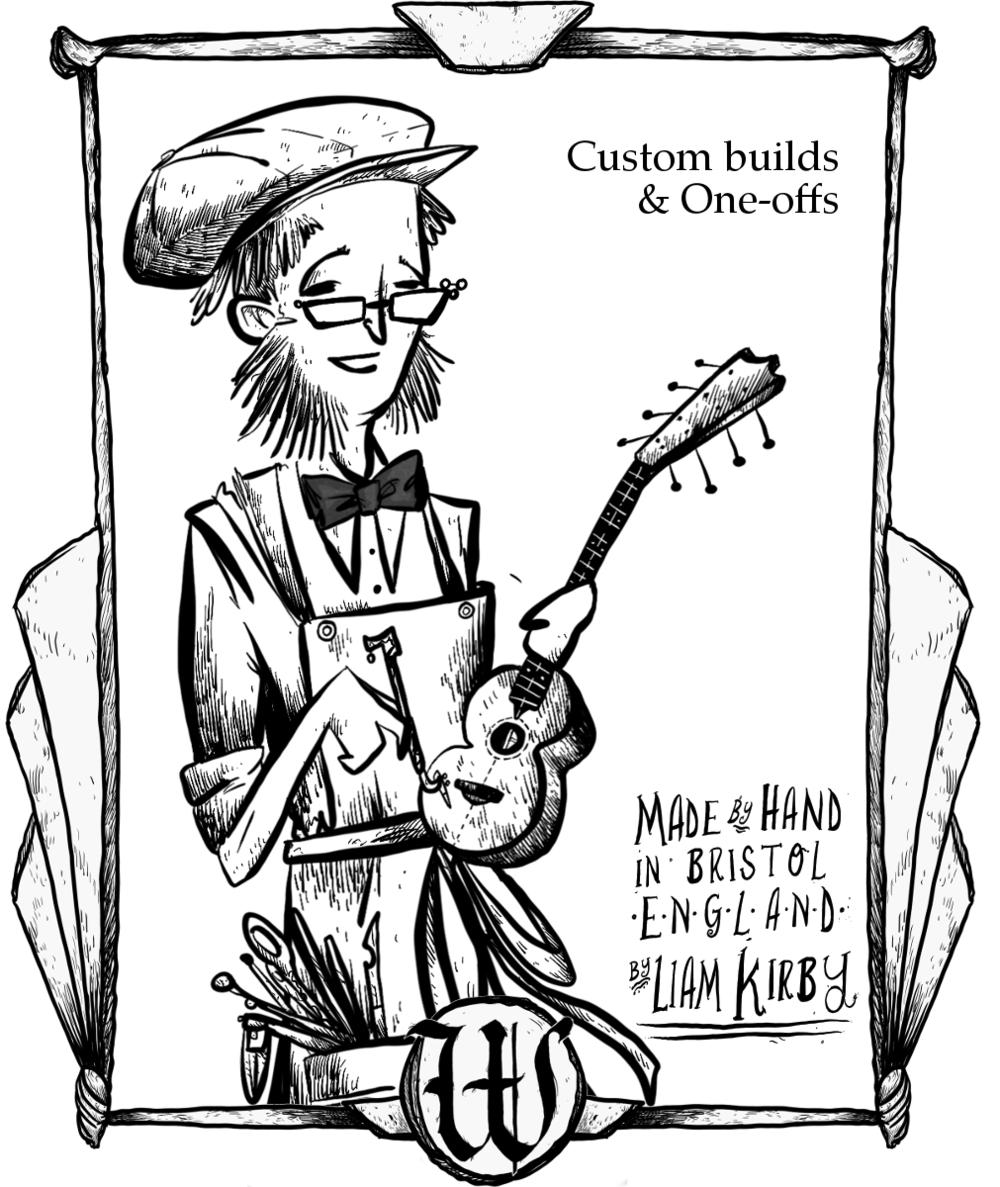 wunderkammer musical instrument co Guitar Neck customs cig card