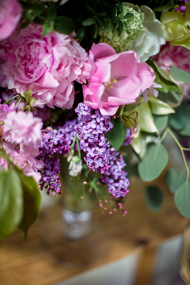 PINK TULIPS, PINK PEONIES AND LILACS