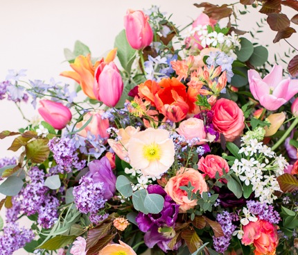 Tulips, Poppies, Ranunculus, Bluebells & Lilacs