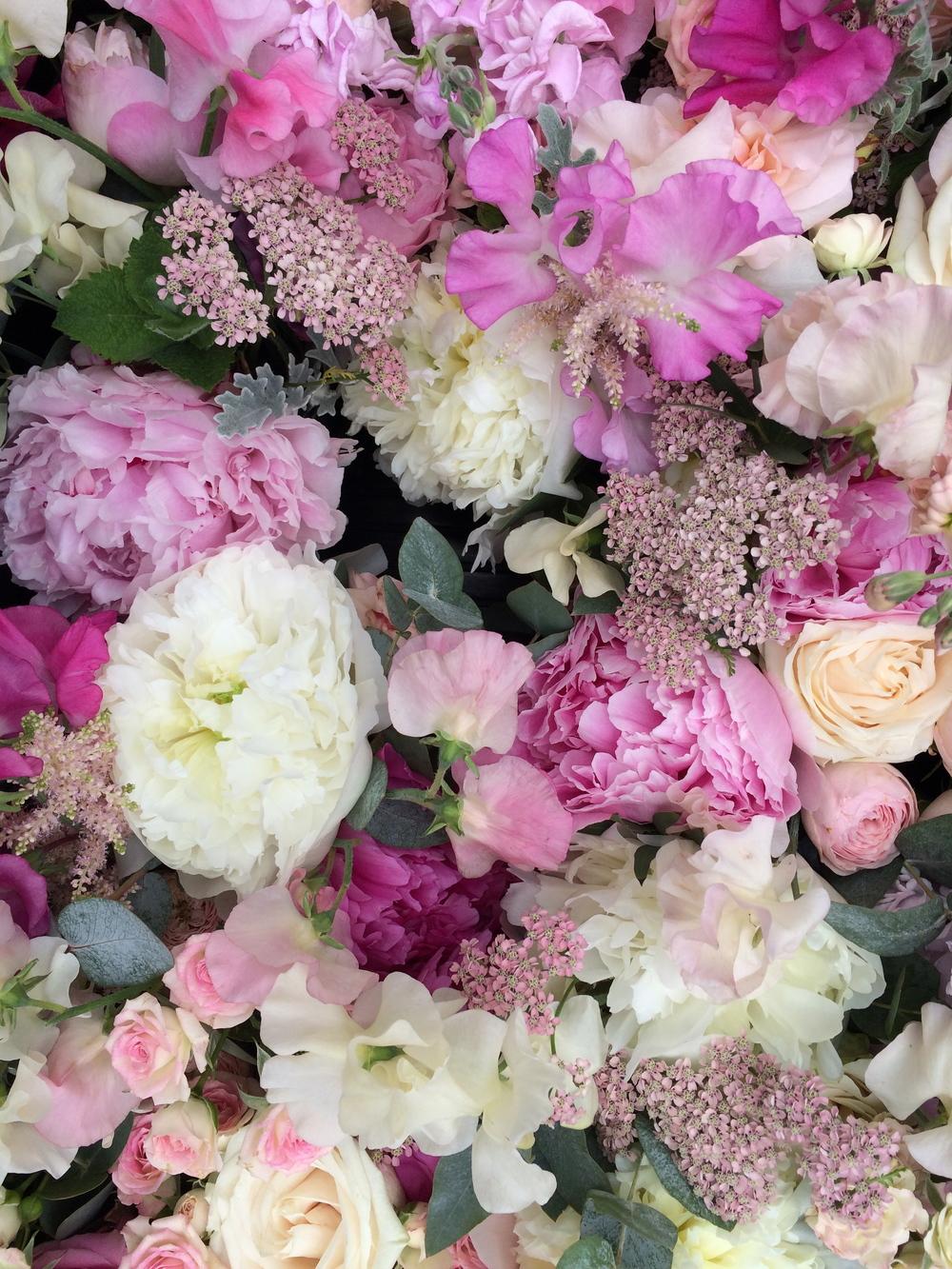 Sweet Peas, Peonies, Roses & Achillea