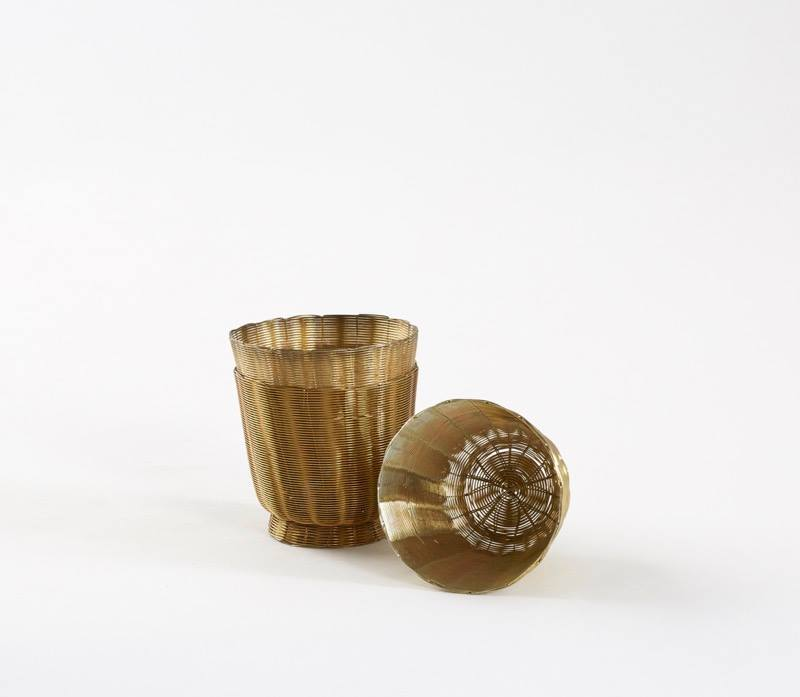 Wireware Tea-light Holder (Available in Copper & Brass finishes) Currently Unavailable
