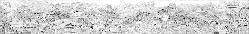 The Wonderful Winelands  Available in three different sizes:  15 x 100cm: R1800  22.5 x 150cm: R3000  30 x 300cm: R4800