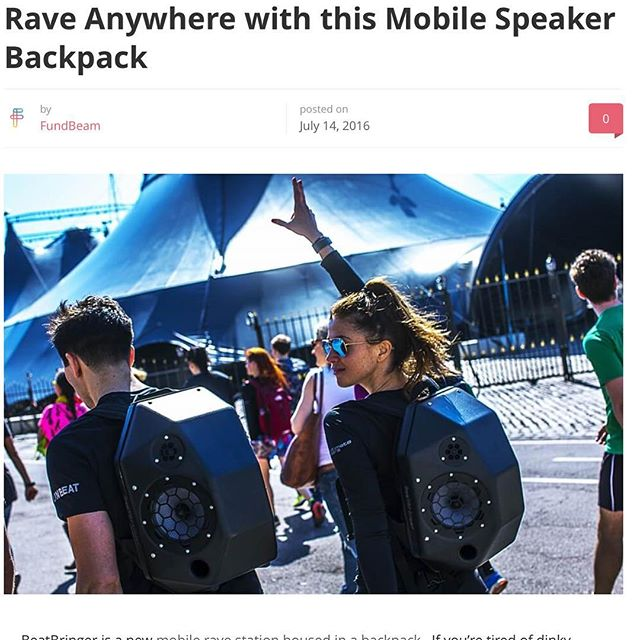 We are featured by @fund.beam in a nice article today!  http://fundbeam.com/mobile-speaker-backpack/  #beatbringer #kickstarter #kickstartercampaign #kickstarterproject #live #gadget #skate #skatelife #skiing #freestyle #freestyleskiing #snowboarding #tech #techwear #3dprint #techstartup #crowdfunding