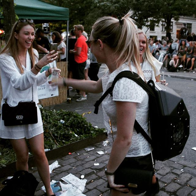 Flashback to  Distortion! So much fun :) #beatbringer #kickstarter #kickstartercampaign #kickstarterproject #crowdfunding #streetparty #street #streetphotography #dance #pose #skate #speakerbackpack #longboard #rollerskating #bmx #surf #wakeboard #gadget