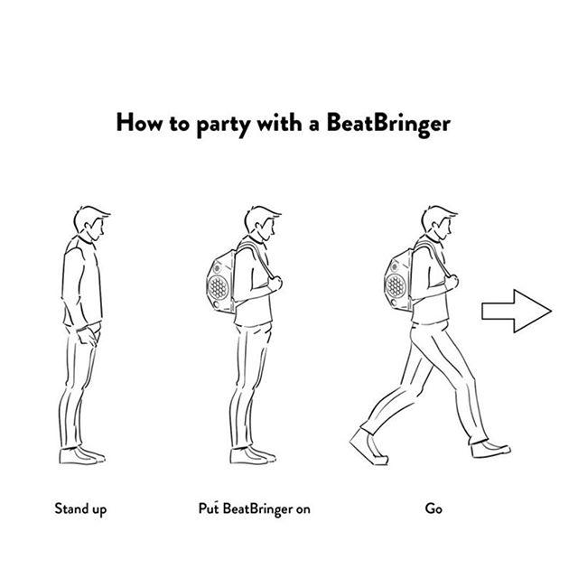 We get many questions regarding how to use the BeatBringer! It is pretty straightforward :) Share the good vibes and music!  #beatbringer #gadget #wakeboard #surf #bmx #rollerskating #howto #kickstarter #kickstartercampaign #kickstarterproject #crowdfunding #dance #street #streetmusic