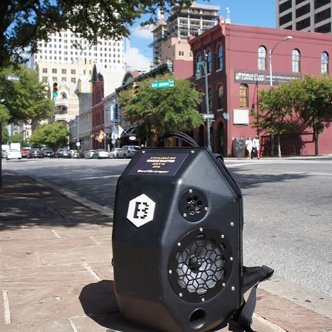 The BeatBringer is in Austin TX for the weekend!  #beatbringer #speakerbackpack #streetmusic #streetwear #streetphotography #streetstyle #dance #skateboarding #skate #kickstarter #texas #crowdfunding #tech #techstartup