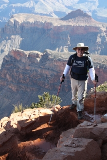 Ann Major Son posing at Grand Canyon