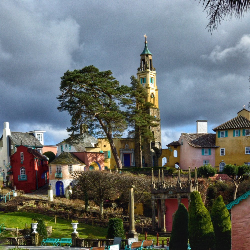 Portmeirion in all its Mediterranean glory