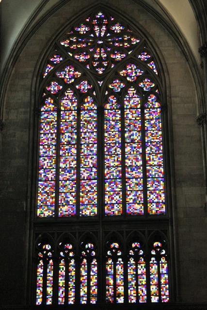 Stained glass window by Gerhard Richter