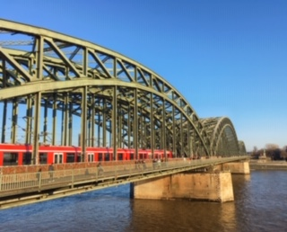 View of Hohenzollern Bridge