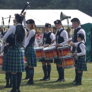 At the European Pipe band Championships 2017
