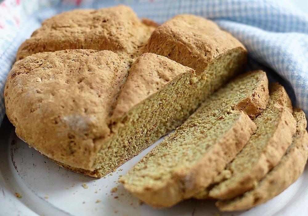 Warm soda bread is delicious!
