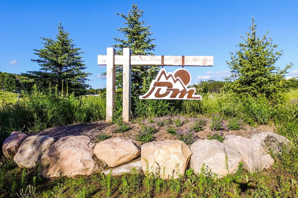 Another sign that we designed at the entrance of the trails.