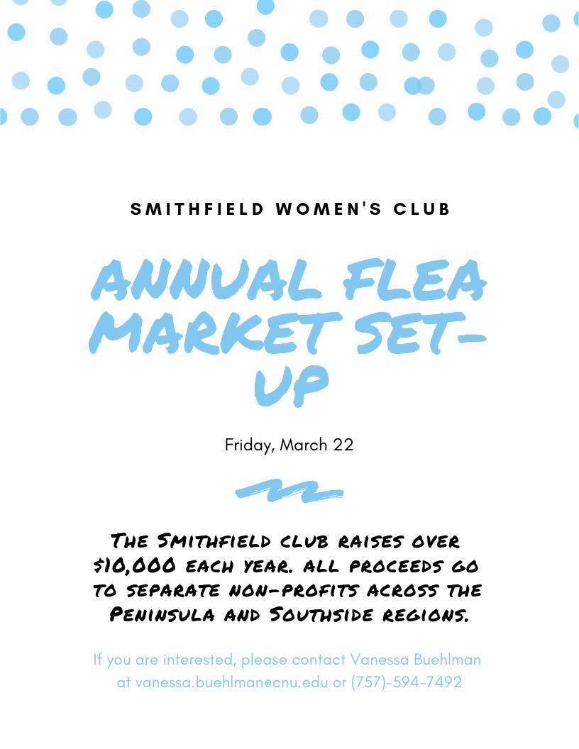 Smithfield Women's Club Flea Market Set up.png