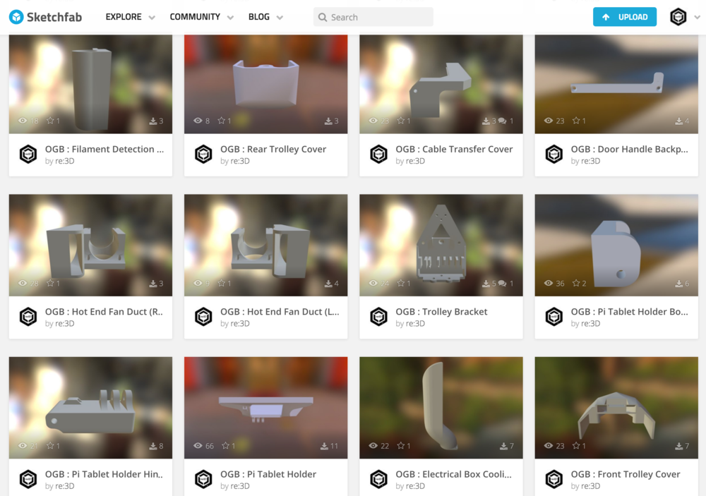 SKETCHFAB PARTNERSHIP / 30 UNIQUE 3D PRINTED PARTS, AVAILABLE FOR DOWNLOAD