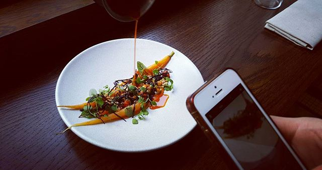 Young carrots, peanuts, shiso | 18.06.17 #oekse #popup #fitzrovia #london