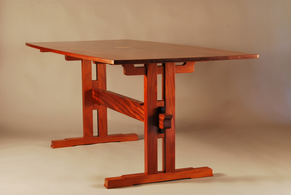Mahogany Trestle Table