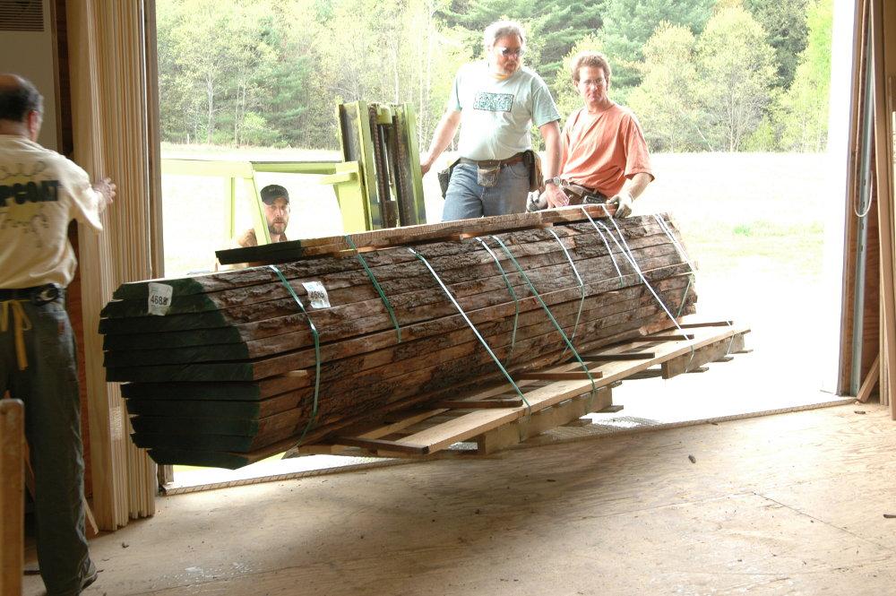 The log arrives