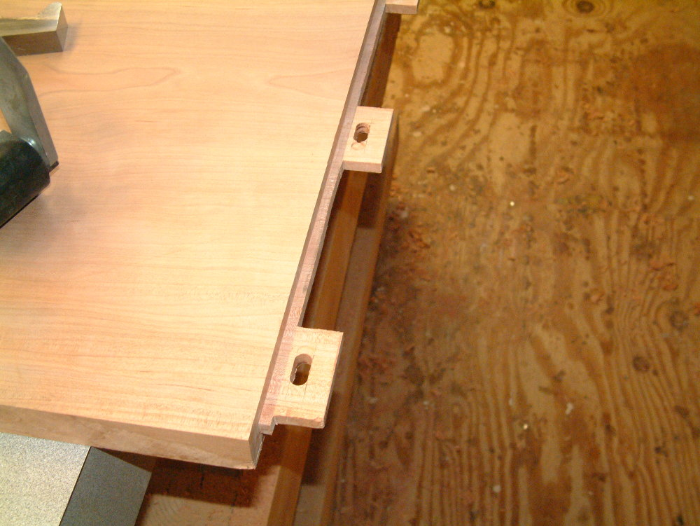 Tenons with oblong holes