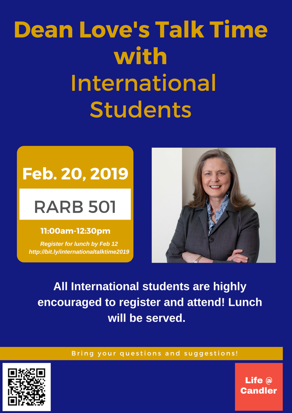Dean Love International Student Talk Time Spring 2019 _ Poster.png