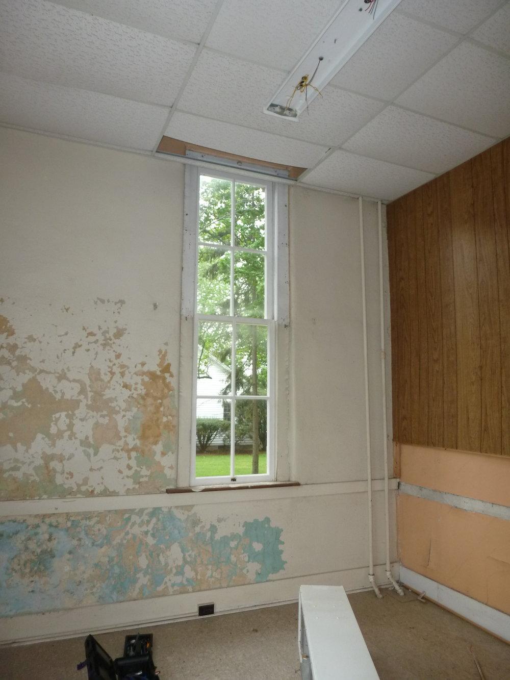 West window of the bathroom