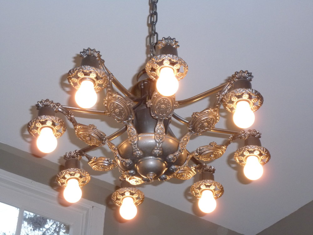 The ceiling light after. It is beautufil!