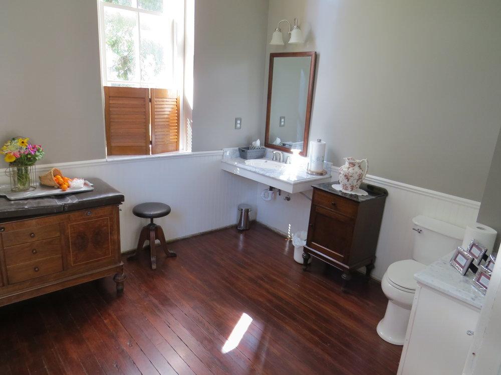 The beautiful finished bathroom