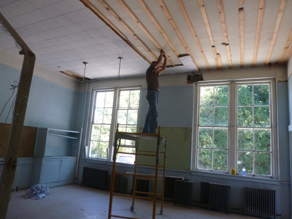 Beginning stages of the renovation