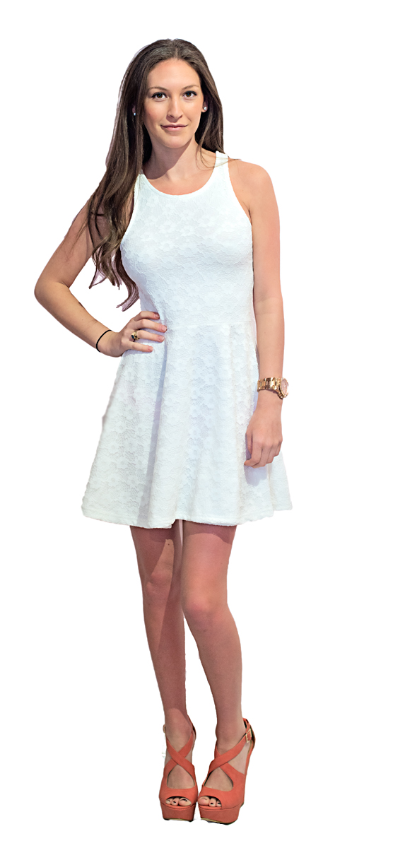 LaLa Couture white dress