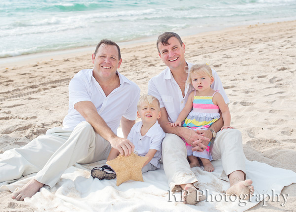 South Florida Family Portrait Session on the Beach