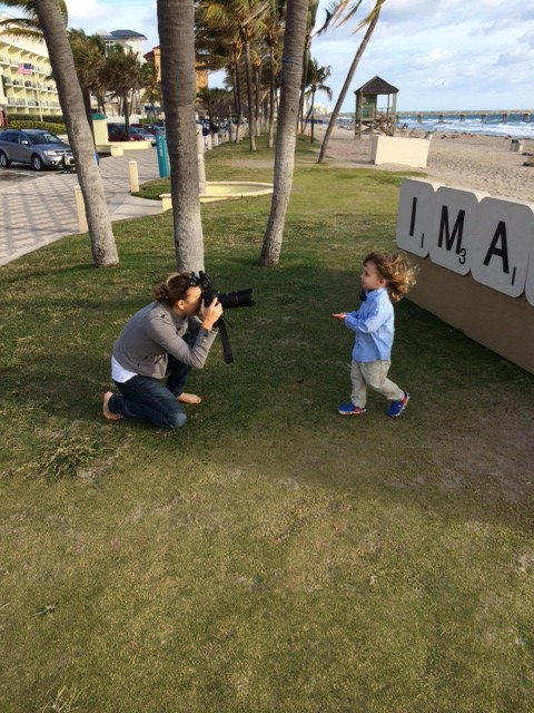BTS with a South Florida Children's Photographer