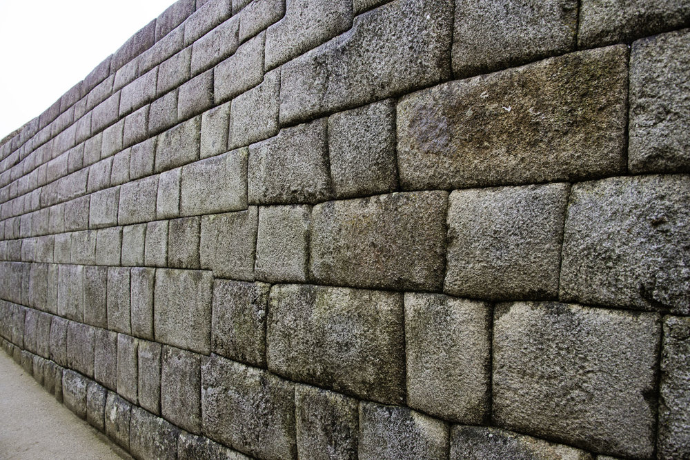 Block Wall at Machu Picchu