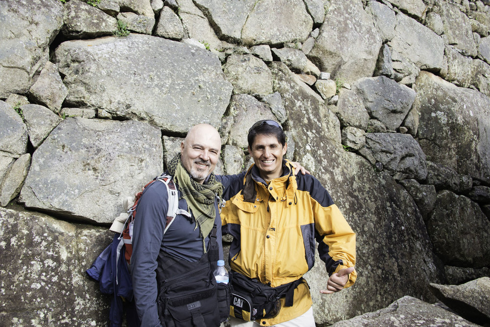 Male Hikers at Machu Picchu