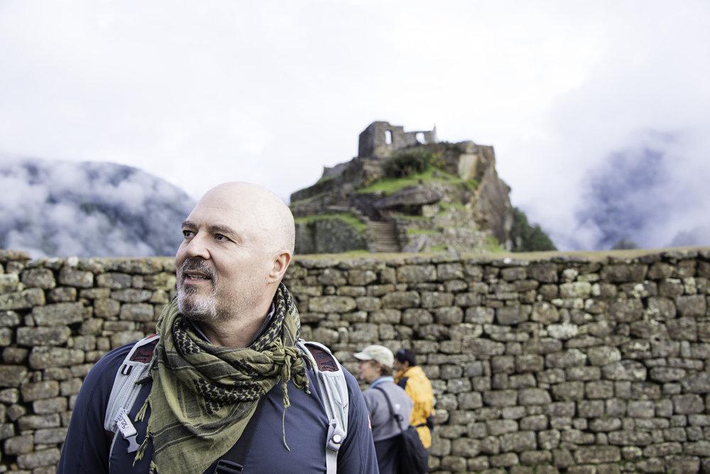 Hiker Admiring Machu Picchu