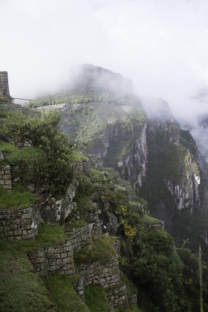 Fog Covered Mountains at Machu Picchu