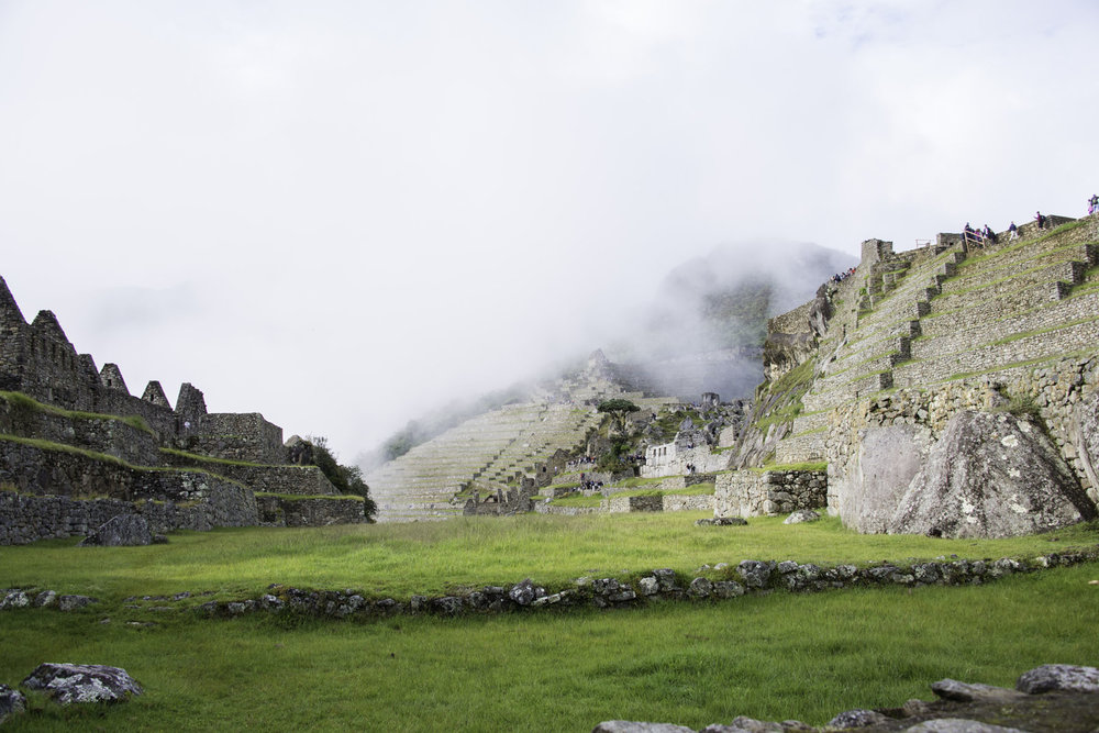 Overview of Incan City at Machu Picchu