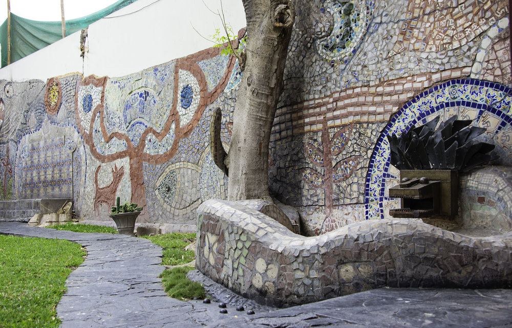 Mosaic Wall at Second Home Peru