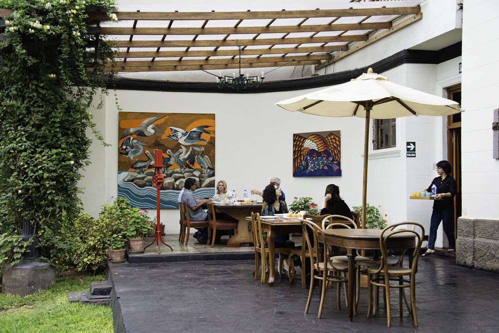 Breakfast Patio at Second Home Peru Hotel in Lima