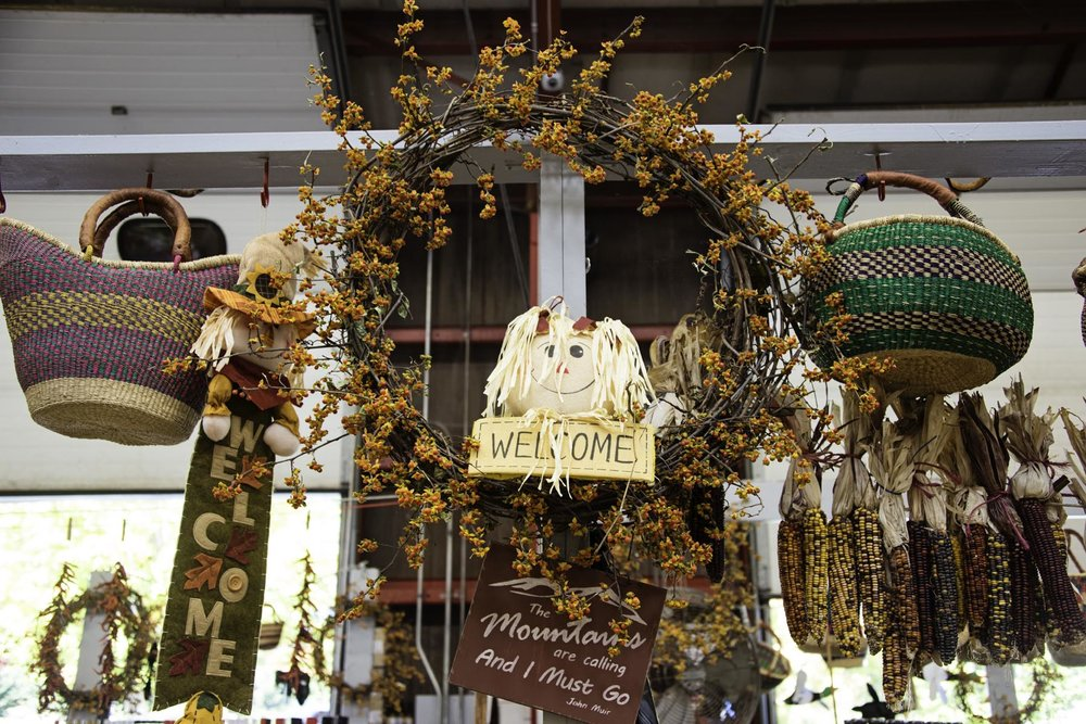 Fall Decor at The WNC Farmers Market