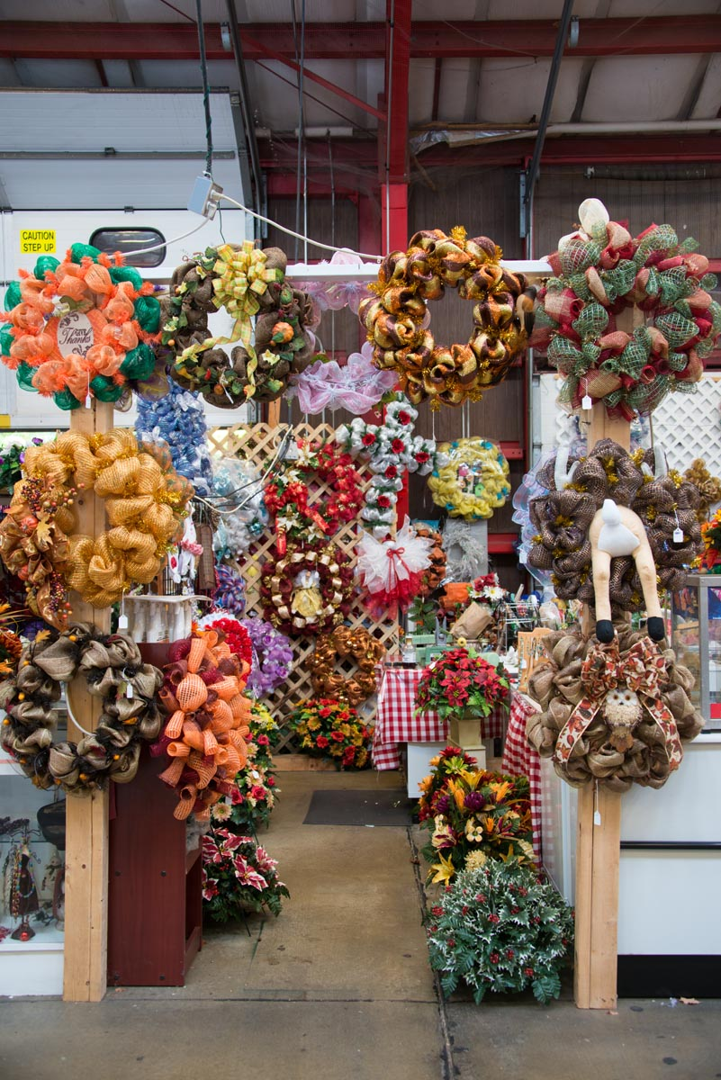 Wreath Stall at the WNC Farmers Market