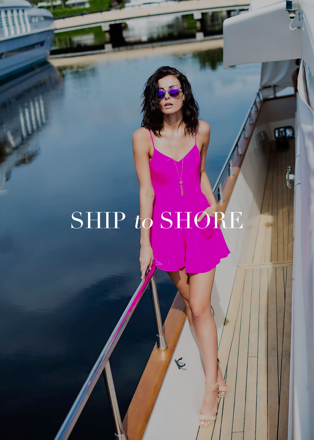 Stylish Woman on Yacht