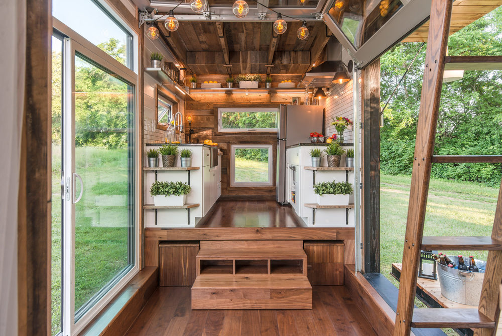 alpha tiny house kitchen straight wide - Pictures Of Tiny Houses