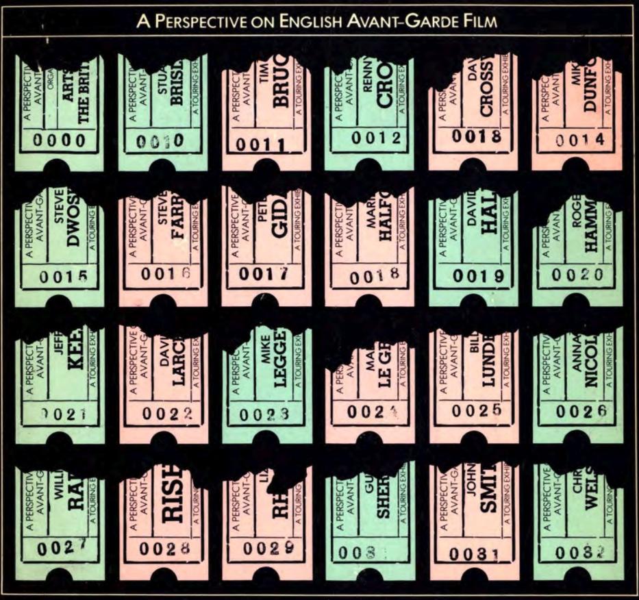 """A Perspective English Avant-Garde Film (1978)   서문에서 밝히고 있는 것처럼 """"1960년대에 회화, 조각 그리고 다른 예술적 표현의 형식사이의 전통적 경계가 붕괴된 열광적 분위기"""" 그리고 이 사이에서 """"자율적 매체인필름에 대한 놀라울 만큼의 관심""""으로 대변 되는 당시 영국의 분위기와 함께, 런던영화작가조합의 부흥은 당시 예술위원회의 전폭적 지원하에 아방가르드 영화에 관한 대규모 순회 전시를 하기에 이른다. 이후 아방가르드에 대한 80년대 중반 부터 2000년대 중반에 이르기까지 근 20년간 놀랄만큼의 제도적 침묵과 한편으로는 자율적 필름 커뮤니티의 점진적 몰락은 비디오라는 용어아래 필름의 실천이 흡수 되는 결과를 낳았다. 그럼에도 불구하고 당시 예술위원회의 지원과 순회 전시와 비평적 뒷받침은 오늘날에도 필름 런던, 저먼 어워드와 연계된 순회 상영-전시와 같은 형태로 지속되어오고 있다."""