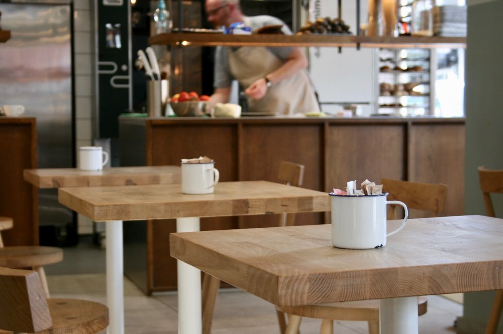 ash tables for GAIL's Artisan Bakery, Hove, 2017