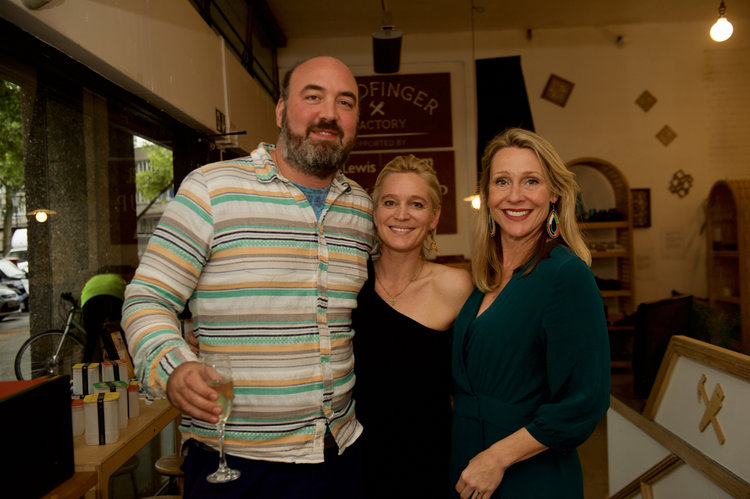 Mark Douglas Hill of the Sustainable Sprit Company, Naomi Sherry, Goldfinger Factory Head of Development and Juliet Kinsman of Bouteco.