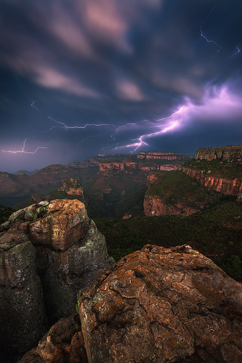 A rare sight - lightning over the Canyon.